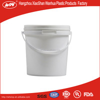 2L Plastic Bucket/drum/pail/container,the high quality plastic oil barrel,plastic bucket with holder for Battery