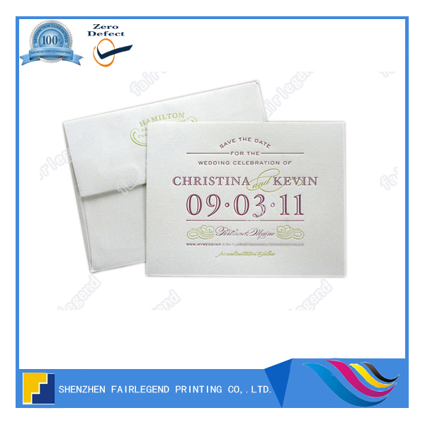 Elegant Emboss Invitation/ID Card Woodfree Paper Printing