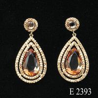 Indian style bollywood earrings brass raw material luxury jewelry earrings