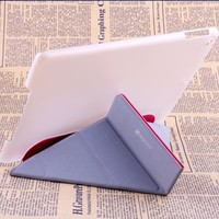 New Standing leather case for ipad air 360 rotating case