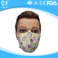 Cartoon Printed Disposable Face Dust Mask For Children / Kids China Supplier