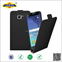 High Quality Luxury Black 100% Real Genuine Leather Flip Case for samsung galaxy note 5
