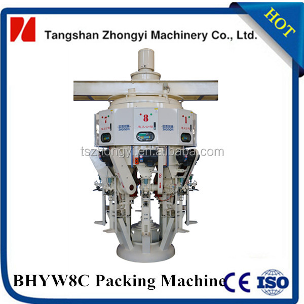 8 nozzles cement weighing filling sealing machine