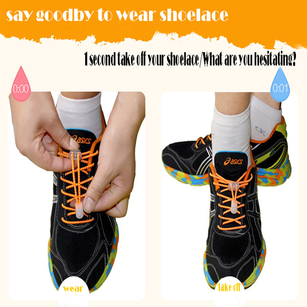 Reflective elasticity lace-free shoelaces colored lazy children climbing round lace lock DS161029-WJ1