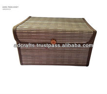 Jewelry box made from knitting bamboo placemat - handicraft product
