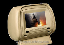 7 inch headrest car dvd player hdmi with zip cover