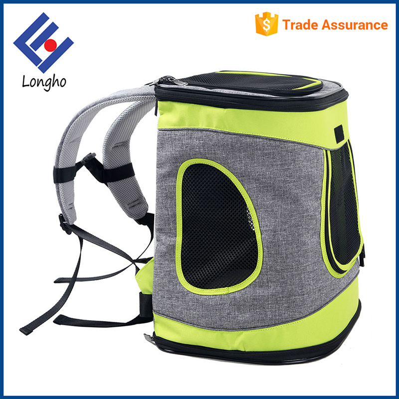2017 new style unique design travel cat dog pet backpack carrier wholesale with waist and chest belt