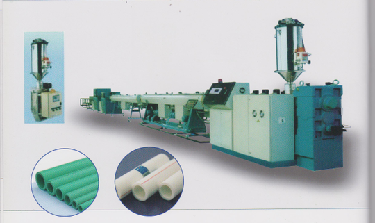 Lower price PP-R/PP/PE plastic pipe extruding/extrusion
