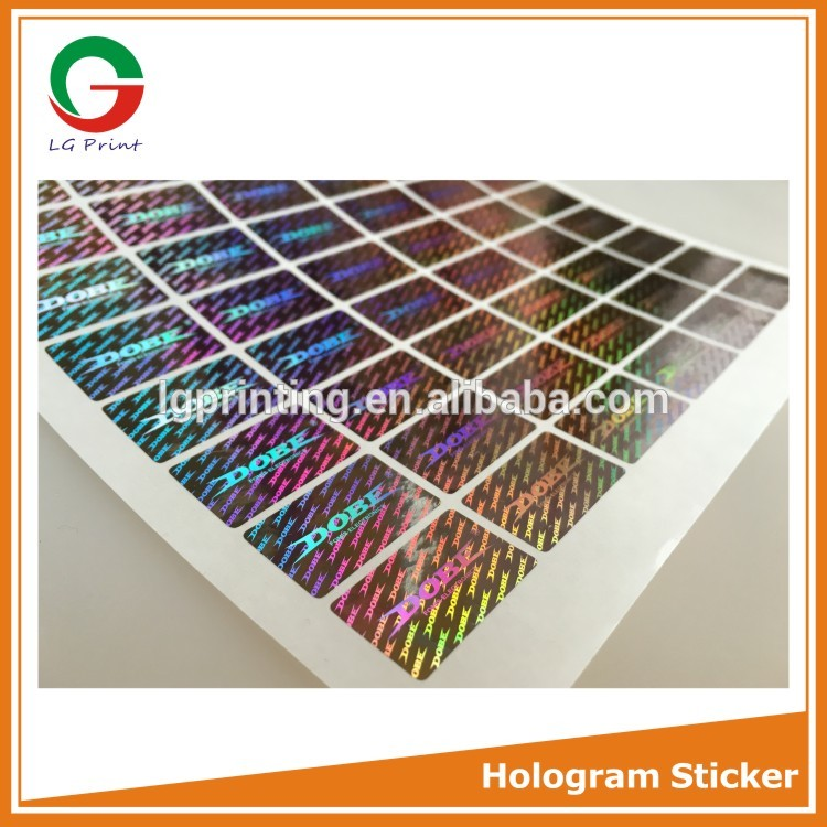top quality vinyl hologram sticker for packing