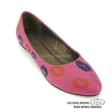 good quality soft leather tpu sole sexy classic mouth printed flat women shoes
