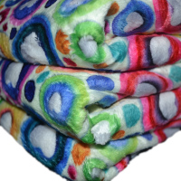 custom digital printed both sides 100% polyester stretch fluffy fleece minky fabric for blanket
