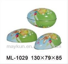 130mm Easter egg tin for candies ML-1029