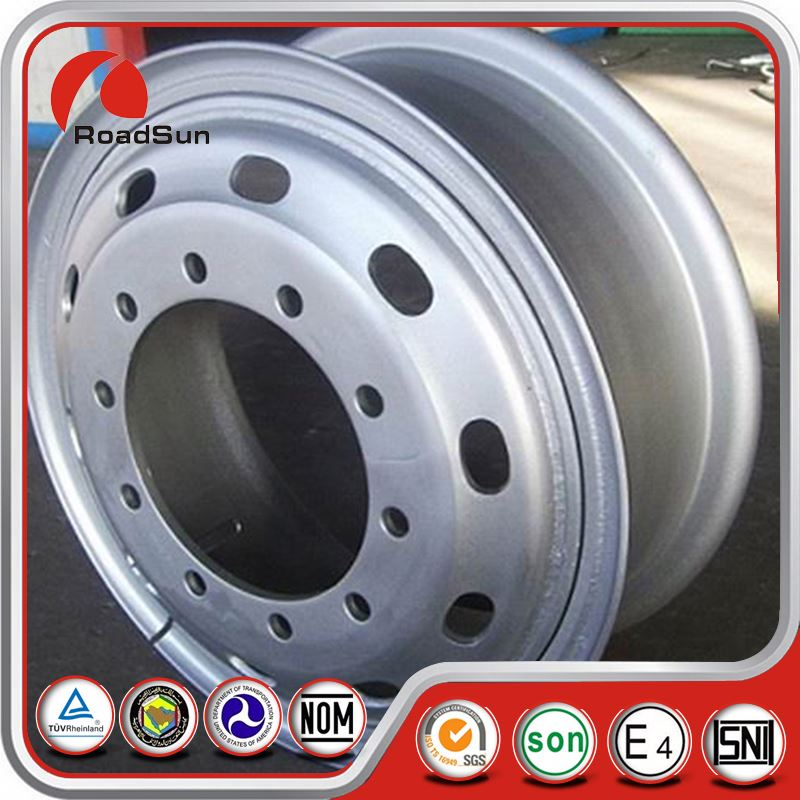 China Silver Machined Face Alloy For Tractor Wheel Rims