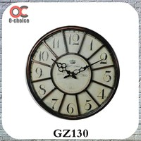 Wholesale home decoration Metal Frame Outdoor Clock