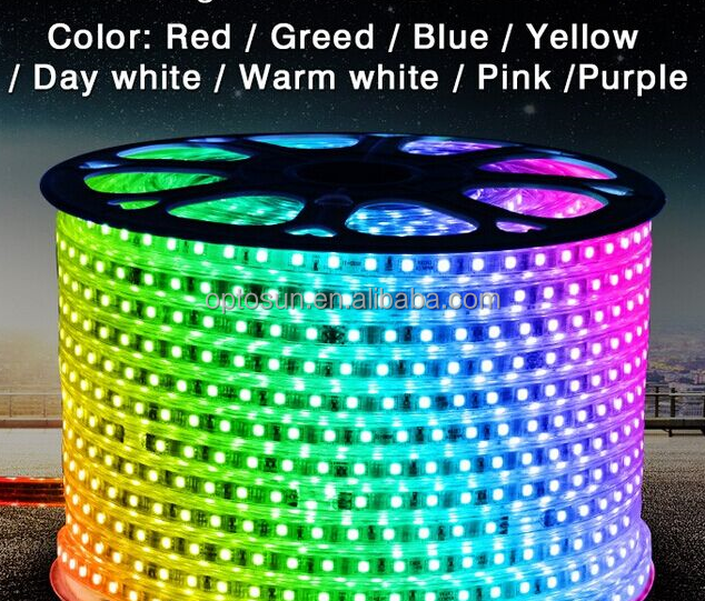 50M 110V SMD 5050 Color changing RGB Led flexible strip light IP68