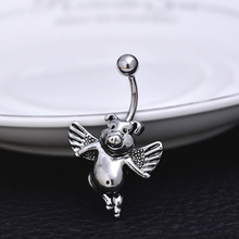 2017 pig wings shaped Body Piercing Women Sexy Jewelry Luxury Bell Button Rings Fine Belly Piercing Women's Navels Piercing