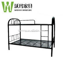 Kids fashionable design cheap price double decker metal queen bunk bed with mattress/ladder