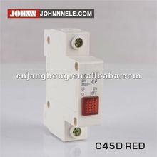 Din Rail type LED Indicator, RED Neon Signal Lamp