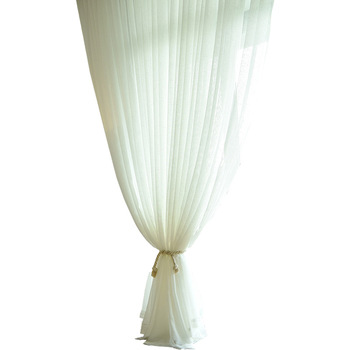 Yutong White Tulle Gauze Curtain Home Fashion Toxic Free Grommet Top Sheer Curtain Panel For Living Room Bedroom