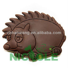 zibo Nicole C0075 hedgehog shaped 2013 new lovely silicone chocolate mould chocolate making molds for baby FDA certificate