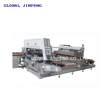 JFD-2500 straight line double edge glass grinding machinery/glass polsihing machine
