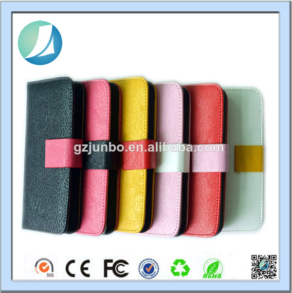 Sublimation leather New fashion flip case for iphone 5c