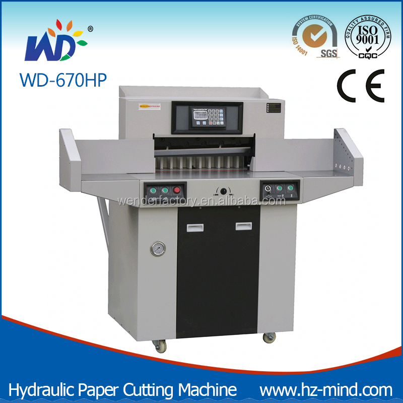 Factory WD-670HP with Side Table Program-Control Paper Cutting Machine Hydraulic Paper Cutter with Table