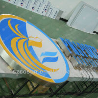 painted stainless steel outdoor signboard
