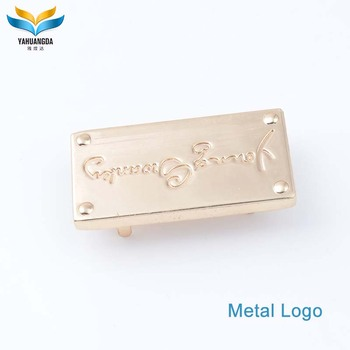 wholesale new product metal handbag labels and tags for handbags