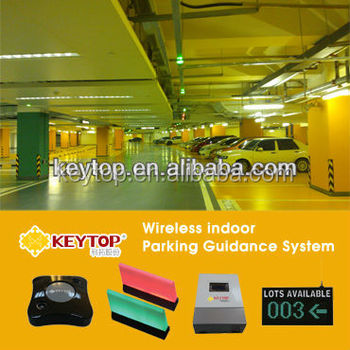 wireless ultrasonic detector based parking guidance systems for commercial buildings