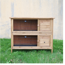 Wholesale cheap price china supplier fir wood rabbit hutch