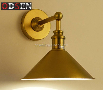 Brass Industrial Stair Wall Light Golden meal shape outdoor wall lighting
