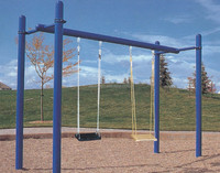 Factory made CE standard metal swing set outdoor kids swing