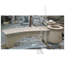 Stone Yard Decorative Flower Pot Garden Bench