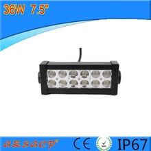 China factory price 7.5'' 36W LED light bar for offroads, led bar light with combo beam used as toplights