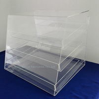 Large 3 Tier Clear Acrylic Bakery Display Case