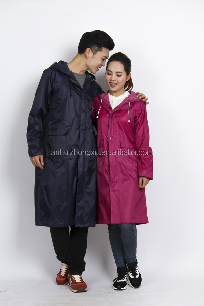 Environment friendly couple long raincoat women rain poncho