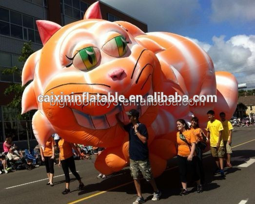 inflatable giant Cheshire Cat/ inflatable customized Cheshire Cat model/ iniflatable cartoon Cheshire Cat for advertising