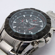 Quartz man watch black, mens watches made in china, watches men