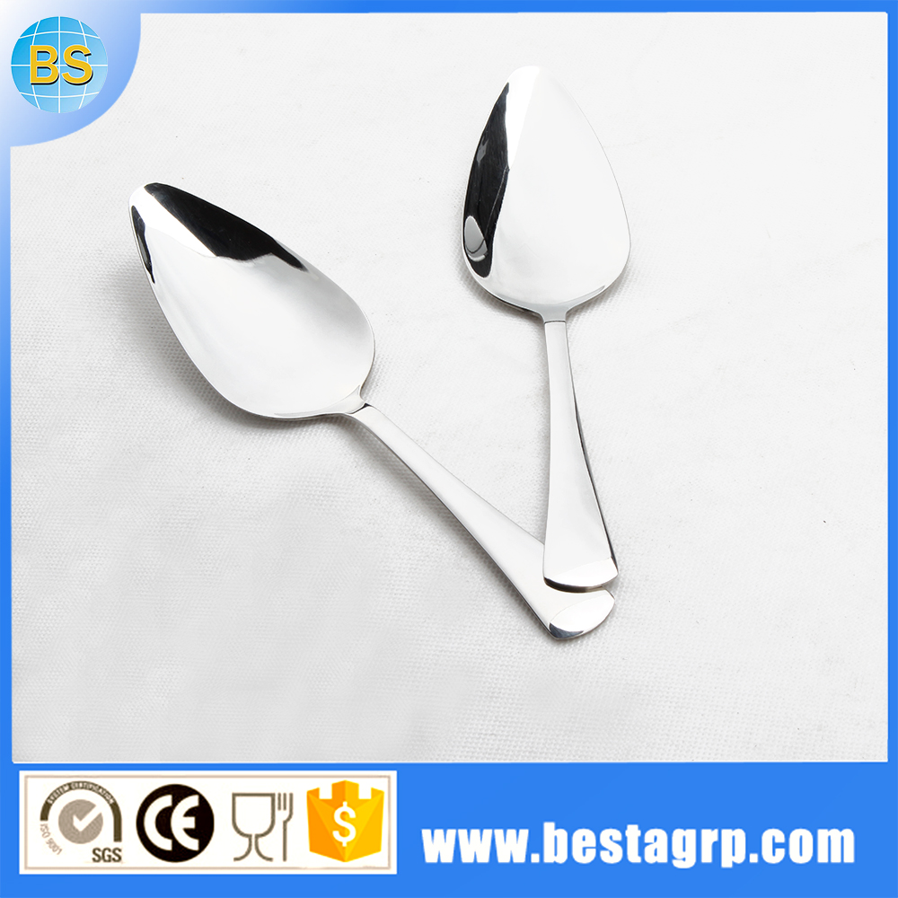 spoon in different shapes, stainless steel serving spoon, cake tableware