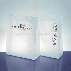 Factory customization eco custom oxo biodegradable clear white PP plastic shopping bag