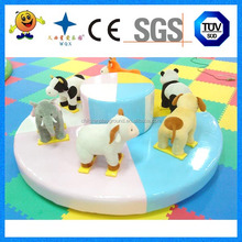Amusement park games indoor lovely soft animal carousel