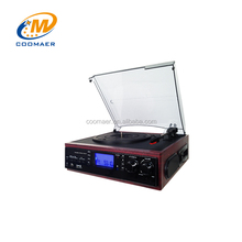 Hot sale best antique music centre gramophone cassette player vinyl turntables with usb sd