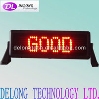 CE RoHS 7X35dot 12v electronic programmable illuminated led moving sign for car indoor advertising message brake sign