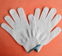 safety working cotton knitted gloves/ ansell gloves