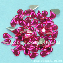 High quality Flat Back Waterdrop Acrylic Rhinestone Diamond Gems