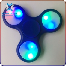 Newest Led Fidget Spinner toy hand spinner with 608 bearing ABS plastic finger sppiner