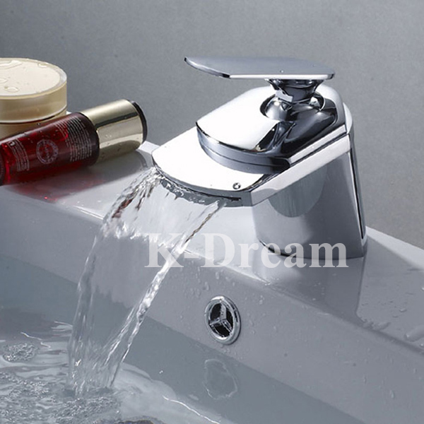 brass shower faucets brass surface polish waterfall water tap mixer