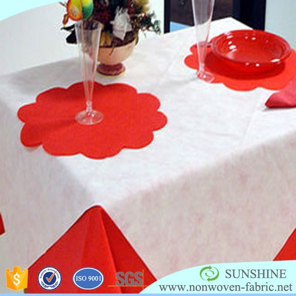 50gsm Polypropylene Non Woven Fabric Table Cloth Roll & Table Runner & Table Cover in Slice