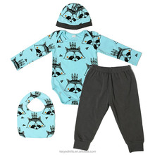 2017 kaiya fall cotton boys romper with cap newborn baby clothes